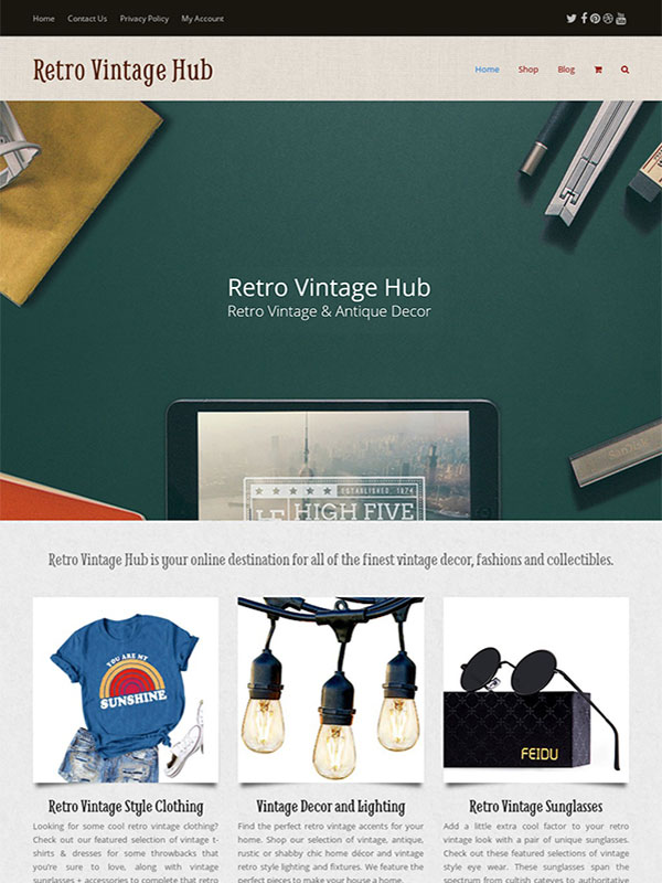 retro vintage hub